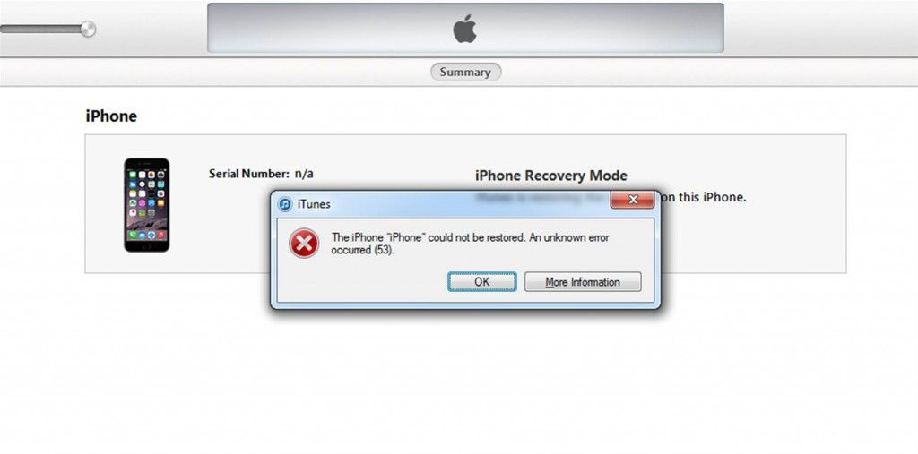 error-53-message-iphone-6-failed-to-restore-1024x507 Apple Releases Error 53 Solution After Class Action Lawsuit
